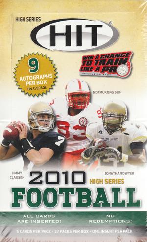 【4/3入荷!】 2010 Sage Hit High Series Football ボックス (アメリカンフットボール) (トレーディングカード) (アメフトカード) (セイジ)