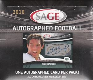 (セール)2010 Sage Autographed Football ボックス(Box)