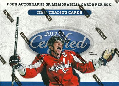 NHL 12/13 Panini Certified ボックス (Box)