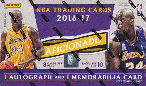 NBA 2016-17 Panini Aficionado Basketball ボックス(Box)
