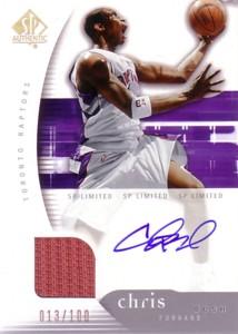 【クリス ボッシュ】NBA 2005/06 SP Authentic SP Limited Jersey Autograph 100枚限定!(013/100) / Chris Bosh