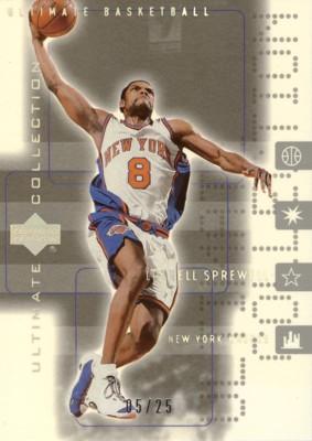 【ラトレル スプリーウェル】NBA 2001/02 UD Ultimate Collection Platinum 25枚限定!(05/25) / Latrell Sprewell