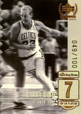 【ラリー バード】NBA 1999 UD Century Legends Century Collection 100枚限定!(049/100) / Larry Bird
