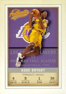 【コービー ブライアント】NBA 2001/02 Fleer Authentix Front Row Parallel 100枚限定!(013/100) / Kobe Bryant