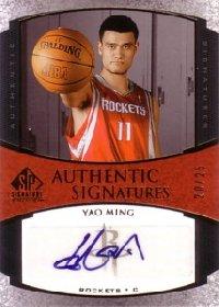 【ヤオ ミン】NBA 2005/06 SP Signature Edition Signatures Gold 25枚限定! / Yao Ming
