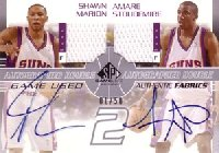 【アマレ スタウダマイアー】【ショーン マリオン】NBA 2003/04 SP Game Used Authentic Fabrics Dual Autographs 50枚限定! / Amare Stoudemire/Shawn Marion