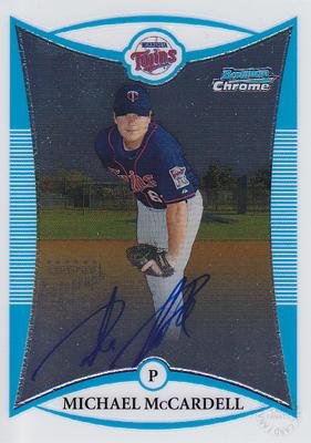 MLBカード マイケル マッカーデル 2008 海外 Bowman Autograph Chrome McCardell Michael 公式通販 Prospects