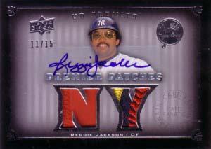MLBカード【レジー ジャクソン】2008 UD Premier Patches Autographs 15枚限定!(13/15) / Reggie Jackson