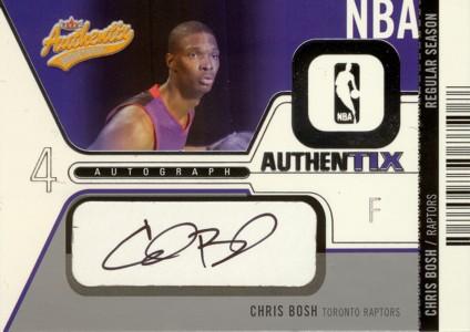 【クリス ボッシュ】2003/04 Fleer Authentix Autographs 325枚限定!/ Chris Bosh