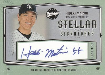 【松井 秀喜】 2004 UD Vintage Stellar Signatures 029/150枚限定!/Hideki Matsui