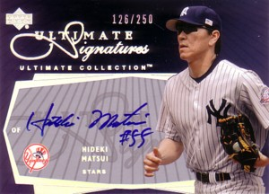 【松井 秀喜】 2003 Ultimate Collection Signatures 250枚限定!/Hideki Matsui