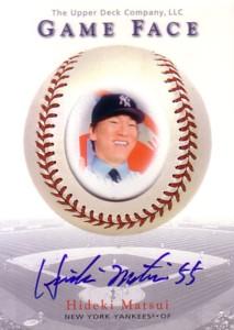 【松井 秀喜】 2003 UD Game Face Autographs 55枚限定!/Hideki Matsui
