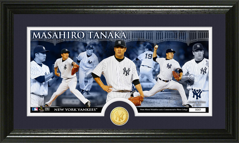 The Highland Mint (ハイランドミント) 田中将大 ヤンキース ブロンズコインパノラマフォトプラーク Masahiro Tanaka Bronze Coin Panoramic Photo Mint ハイランドミント(The Highgland Mint)