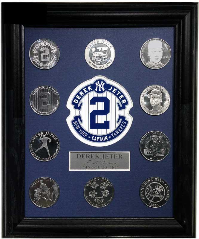 ハイランドミント(The Highland Mint) デレク・ジーター ファイナルシーズンコイン全10種入り額装 (Derek Jeter Final Season Coin Collection Display)