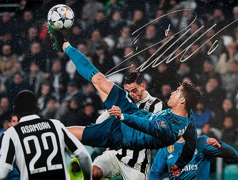クリスティアーノ・ロナウド レアル・マドリード アイコニック UEFA ゴール vs ユベントス 直筆サインフォト Signed Real Madrid Photo: Iconic UEFA Goal vs Juventus / Cristiano Ronaldo 7/20再入荷予定!