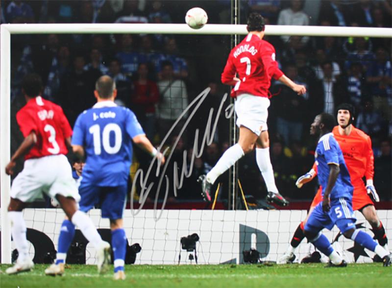 クリスティアーノ・ロナウド 直筆サインフォト - Champions League Final Goal / Cristiano Ronaldo 3/28再入荷