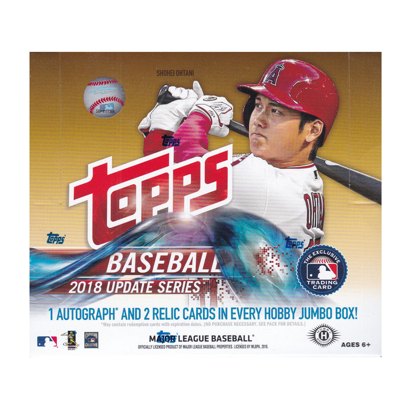 MLB 2018 Topps Update Series Baseball Jumbo 10/23入荷!