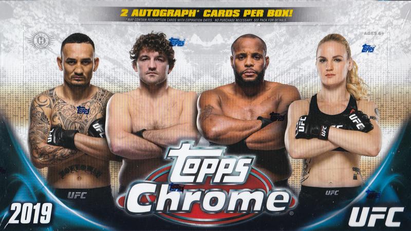 総合格闘技カード UFC 2019 Topps UFC Chrome ボックス (Box) 9/17入荷!
