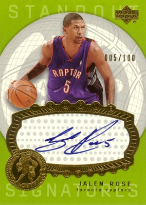 Jalen Rose 2003/04 UD Triple Dimensions Standout Sigs 100枚限定!ジャージナンバー!
