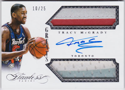 トレイシー・マグレディ 2013-14 Panini Flawless Greats Dual Memorabilia Auto 10/25 Tracy McGrady