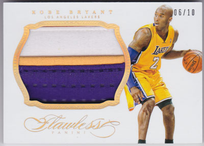 コービー・ブライアント 2013-14 Panini Flawless Patches Gold 06/10 Kobe Bryant