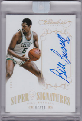ビル・ラッセル 2013-14 Panini Flawless Super Signatures Auto Gold 07/10 Bill Russell