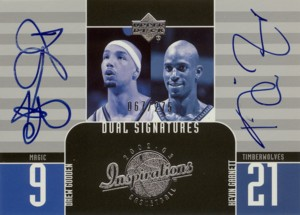 Kevin Garnett/Drew Gooden 2002/03 UD Inspirations Dual Signatures 275枚限定!