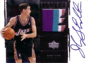 John Stockton 2003/04 UD Exquisite Collection Patches Autographs 100枚限定!