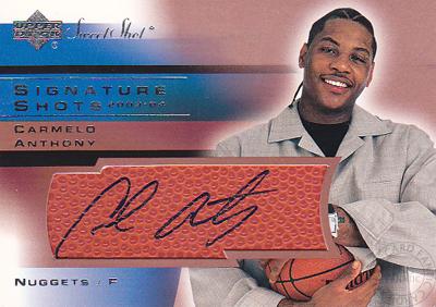 【カーメロ アンソニー】 2003/04 Sweet Shot Signature Shots (Carmelo Anthony)(直筆サインカード)