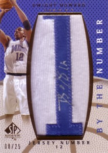 Dwight Howard 2007/08 SP Authentic By The Number Jersey Number 25枚限定!