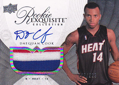 Daequan Cook 2007/08 UD Exquisite Collection Rookie Jersey Autograph 225枚限定!