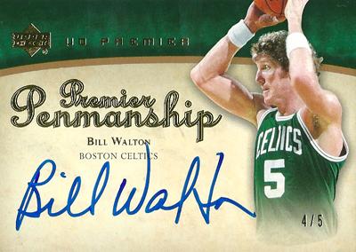 【ビル ウォルトン】 2007/08 UD Premier Penmanship Autographs 5枚限定!(4/5)/ Bill Walton