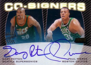 G.Payton/P.Pierce 1999/00 Topps Stadium Club Co-Signers