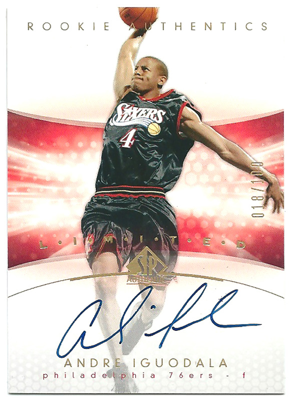 アンドレ・イグドラ NBAカード 2004-05 SP Authentic Limited Rookie Auto / Andre Iguodala