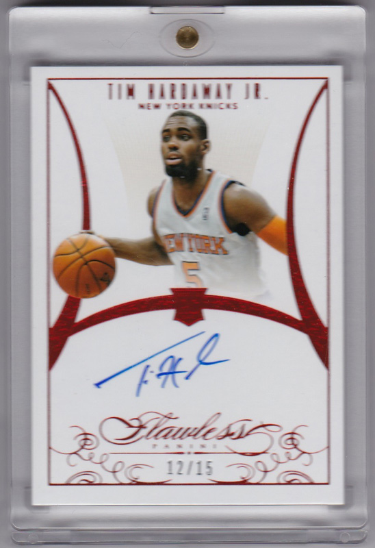 ティム・ハーダウェイ Jr. Tim Hardaway Jr. NBA 2013-14 Flawless Signatures Ruby 12/15