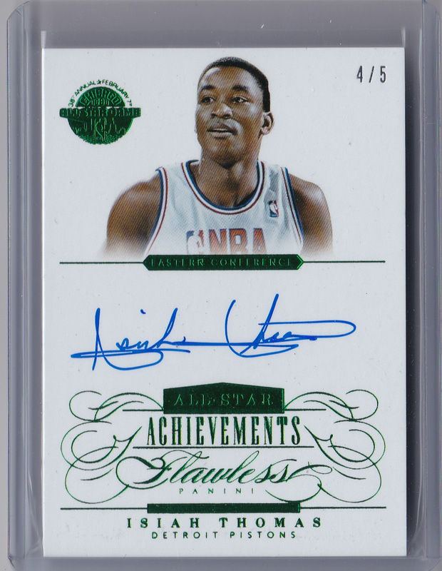 アイザイア・トーマス Isiah Thomas NBA 2013-14 Flawless All-Star Archivements Auto 4/5