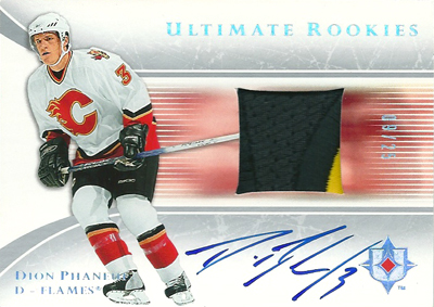 ディオン・ファヌーフ NHLカード Dion Phaneuf 2005/06 UD Ultimate Collection Autographed Patches 09/25