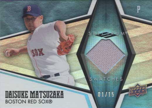 松坂大輔【ファーストナンバー】 2008 Upper Deck Spectrum Jersey Card 1/15 Daisuke Matsuzaka