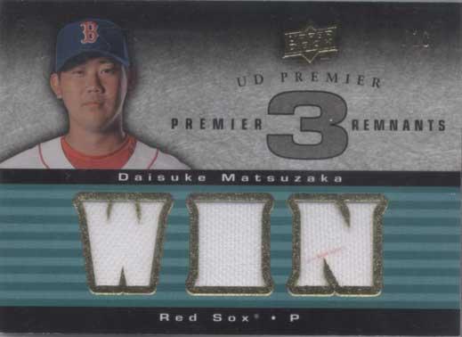 松坂大輔 2007 Upper Deck Premier Remnants Triple Jersey Card /18 Daisuke Matsuzaka