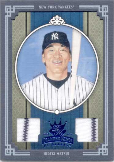 松井秀喜 2005 Donruss Diamond King Double Jersey Card /50 Hideki Matsui