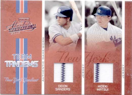 松井秀喜 2006 Playoff Absolute Memorabilia Jersey Card /125 D.Sanders & Hideki Matsui