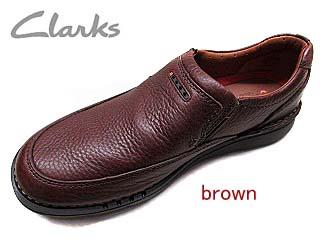 送料無料! clarks829e  クラークス brown leather  メンズ カジュアルコンフォートシューズ