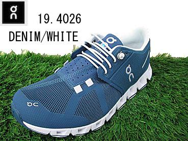 キャタピーエアープレゼントキャンペーン スイス発ブランド ON 19.4026  CLOUD クラウドDenim/White レディース ランニングシューズ スニーカー スポーツ 靴