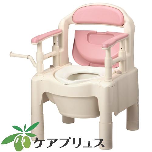安寿 ポータブルトイレ FX-CP「ちびくまくん」 標準タイプ さくら