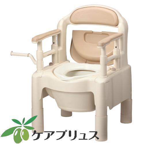 安寿 ポータブルトイレ FX-CP 「ちびくまくん」 ソフト便座 タイプ ベージュ