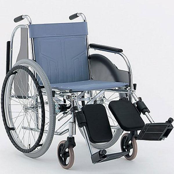 【車いす エアータイヤ 自走式】肘跳ね上げ多機能車椅子 スチール製【自走式車椅子 介助軽減 おりたたみ 角度調節 肘 安心 安全 医療 看護 介護 自宅 病院 施設】