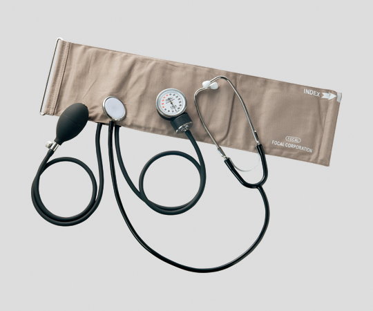 アネロイド血圧計(ラテックスフリー)Dリング聴診器一体型【8-4483-02】