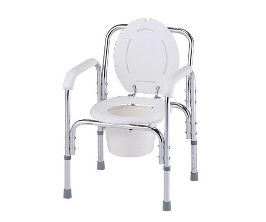 【送料無料】デラックスアルミ製便器椅子【0-663-01】