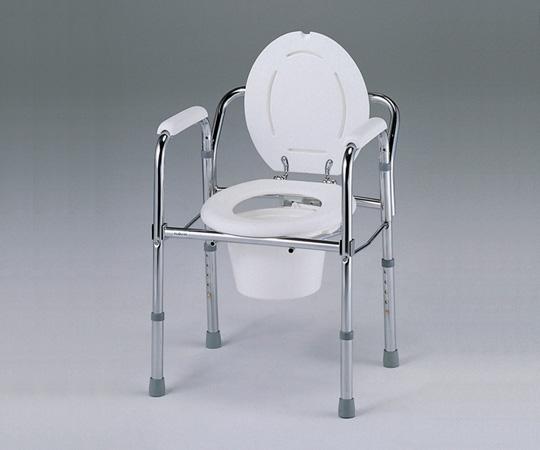【送料無料】折りたたみ便器椅子 手摺付き【0-667-01】