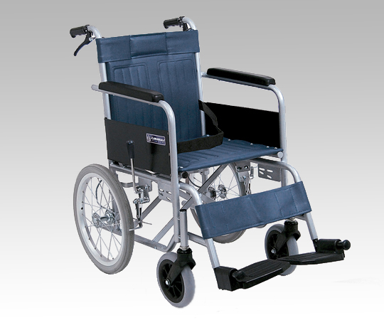 【送料無料】介助車 スチール製車椅子 KR55【0-6728-01】